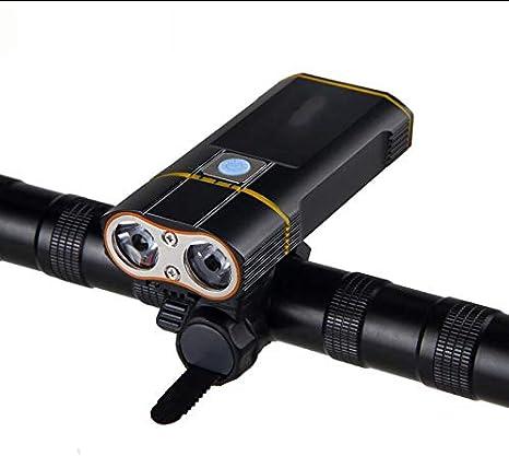 6000LM Frente de la Bicicleta de la Linterna 2X XM-L2 LED de luz ...