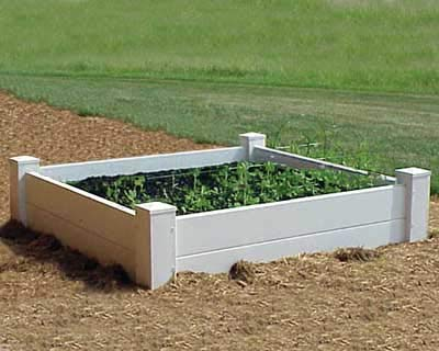 Dura-Trel 11180 4 by 4 by 1-Feet Raised Planter Bed