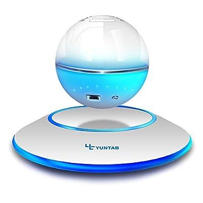 Yuntab Levitating Speakers Portable Floating Wireless Bluetooth 4.0 Multicolor LED