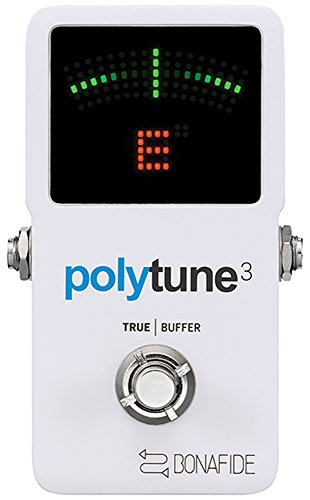 Board Chromatic Guitar Tuner (TC Electronic PolyTune 3 Polyphonic LED Guitar Tuner Pedal w/Buffer)