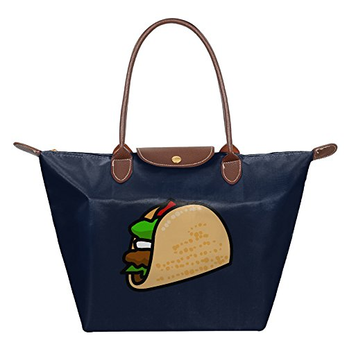 EJudge Taco Cake Fashion Waterproof Nylon Folding Shoulder Tote Bags For Women