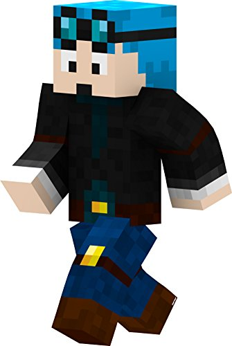[Dan with Blue Hair - 2' Wall Decal] (Skeleton Minecraft Costume)