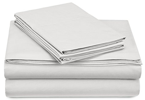 Pinzon 300-Thread-Count Percale Sheet Set - Twin Extra-Long, White