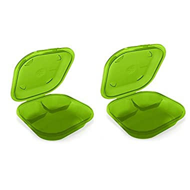 Preserve 2 Go BPA-Free, Reusable Take Out Box/Food Storage Containers (Set of 2), Apple Green