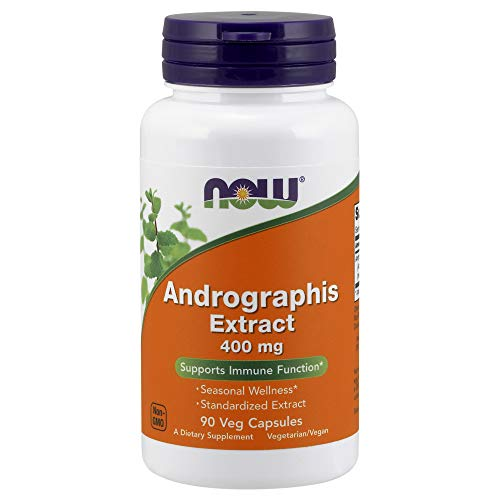 NOW Supplements, Andrographis Extract 400 mg (Standardized Extract), 90 Veg Capsules ()