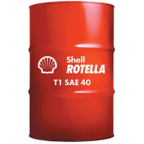 Shell Rotella 550019860 T1 40 heavy Duty Diesel Engine Oil - 55 Gallon Drum (Weight Of 55 Gallon Drum Of Oil)