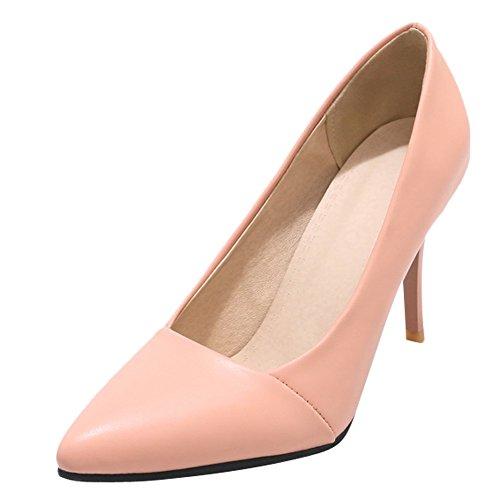 Charm Foot Donna Elegante Scarpe A Punta Stiletto Scarpe Rosa