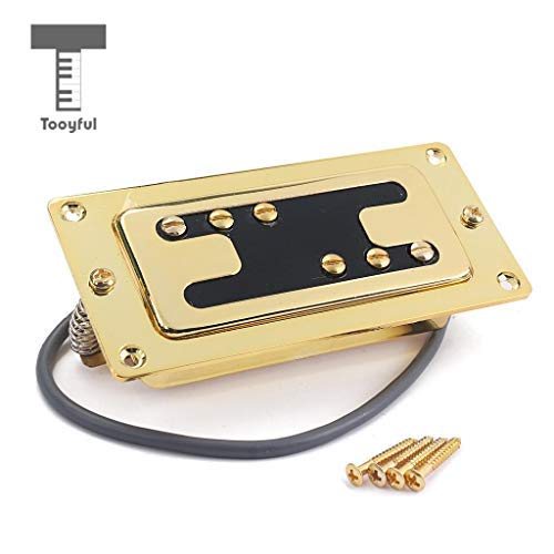 DDV-US - Guitar H Style Neck Humbucker Double Coil Pickup for LP Electric Guitar Replacement Parts Gold (Humbucker Rhythm)