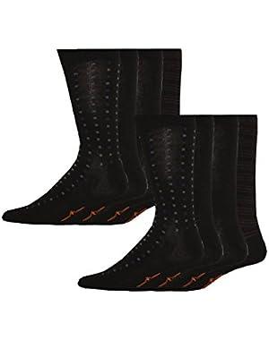 Men's Patterned Dress Socks, 8 Pair
