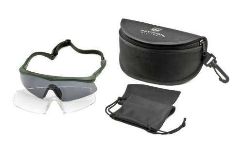 (Revisions SawFly™ Military Eyewear System Essential Kit Large, BLACK)