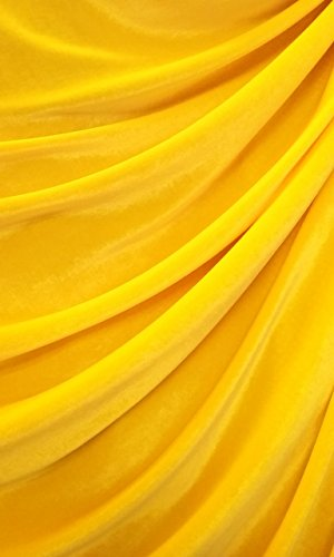 Stretch Velvet by The Yard (Yellow) ()