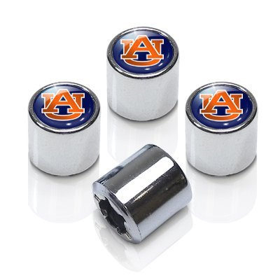 University of Auburn Chrome Tire Stem Valve Caps