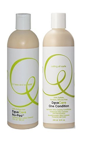 Devacare Cleanser - Devacare Combo One Condition + No-poo Cleanser (12 Oz Duo)
