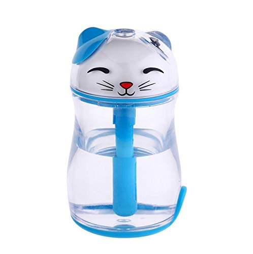 Price comparison product image GAX Humidifier Cartoon Shape Humidifier Lucky Cat Automatic Power Off Protection Humidifier Home Night Light Humidifier, Blue