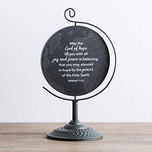 Globe Plaque - Dayspring We're Blessed - Wooden Plaque with Metal Stand