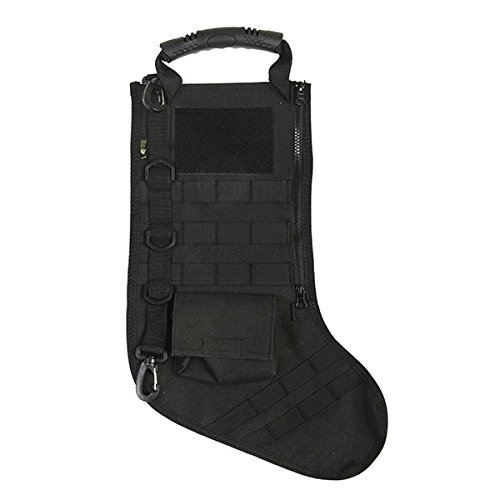 RUCKUP RUXMTSB Tactical Christmas Stocking, Black, Full,