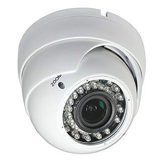 Sinis Super Hybrid 5MP(Default Output 4MP) 1080P HD-TVI/CVI/AHD/960H CCTV Surveillance Security Camera Day Night Vision Waterproof Outdoor/Indoor 2.8-12mm Varifocal Lens Metal Array Dome Video System