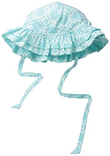 Flap Happy Baby Girls UPF 50+ Double Ruffle Hat