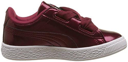 Puma Unisex-Kinder Basket Heart Glam PS Sneaker Rot (Tibetan Red-Tibetan Red)
