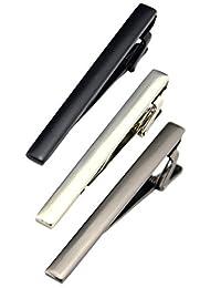 Fashion Necktie Clips Tie Bar Clips Tie Pins Set for Men Pack of 3