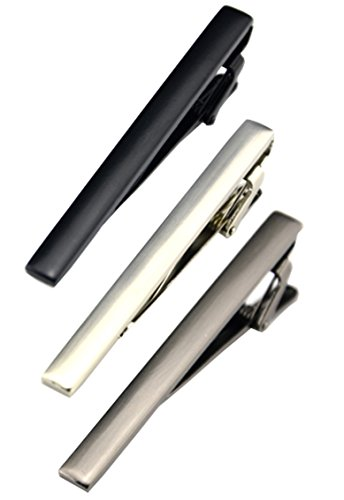 Fashion Necktie Clips Tie Bar Clips Tie Pins Set for Men Pack of 3 (Style (Mens Necktie Tie)