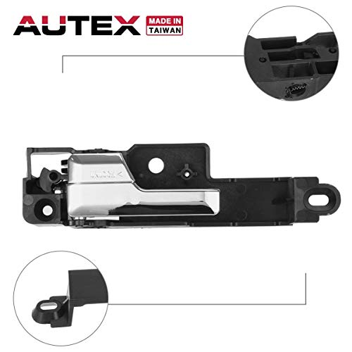 (AUTEX Interior Door Handle Front Left Driver Side Compatible with Ford Fusion,Mercury Milan,Lincoln MKZ 2006 2007 2008 2009 2010 2011 2012 Door Handle 81702 92813)