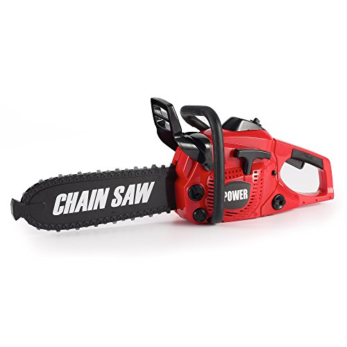 Liberty Imports Power Construction Tool Electric Chainsaw Toy Play Set with Rotating Chain and Realistic Sounds - Kids Pretend Construction Garden Yardwork -