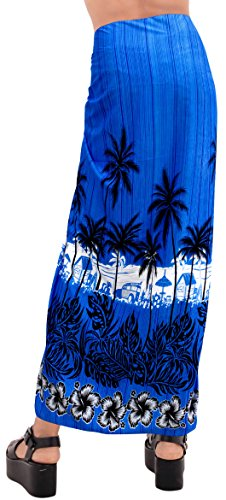 t427 da Coprire Sarong LEELA Costume Bagno Hawaiian Crociera LA Aloha Bikini Blu Gonna Usura Resort q6gwETx