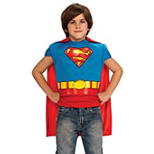Superman Muscle Chest Costume Shirt with Cape, Child Size (Blue)