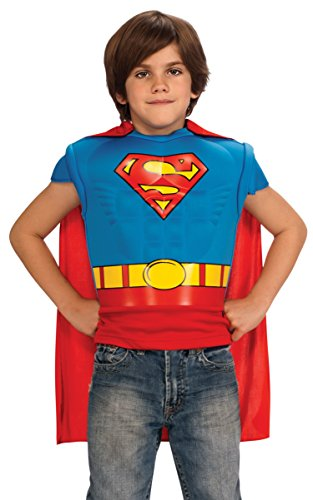 Costume Clark Smallville Kent (Superman Muscle Chest Costume Shirt with Cape, Child Size)