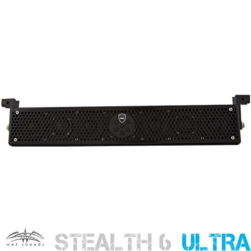 Wet Sounds Stealth-6-Ultra-HD All in One Amplified Marine/ATV/Golf Car HD Soundbar (Black) by Respirapro (Image #1)