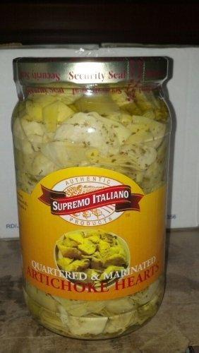 Supremo Italiano: Quartered & Marinated Artichoke Hearts 68 Oz. by Supremo Italiano ()