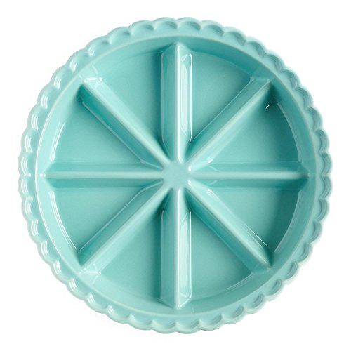 (World Market 8 Triangle Aqua Ceramic Scone Pan)