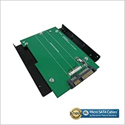 SATA III to Asus Zenbook/Sandisk SSD Adapter with 3.5 Inch Frame