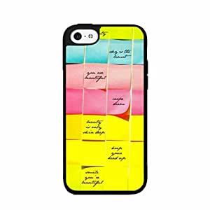 Inspirational Notes Plastic Phone Case Back Cover iPhone 5c
