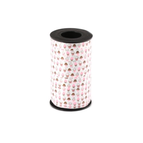 Berwick A11102-1H250-0002 Cupcakes Curling Ribbon, 3/8-Inch Wide by 250-Yard Spool, (Cupcake Wrapping Paper)