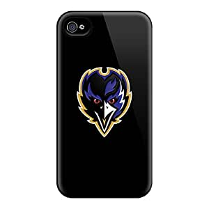 Scratch Resistant Cell-phone Hard Covers For Iphone 6 With Support Your Personal Customized Attractive Baltimore Ravens Skin AlissaDubois