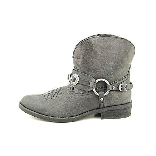 Denim & Supply Mujer's Afton Leather Round Toe Botines Cowboy Black / Waxy Crunch