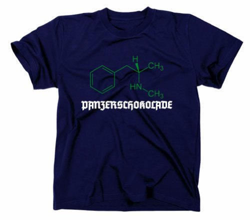 #3 Crystal Meth Panzerschokolade Pervitin T-Shirt, cook, breaking bad, XXL, navy