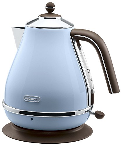 Delonghi Electric kettle (1.0L)_ICONA Vintage Collection_KBOV1200J-AZ (Azzurro Blue)_Japan Domestic genuine products_