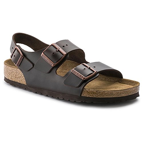 Milano Soft Footbed Amalfi Brown Leather (Birkenstock Milano Leather)