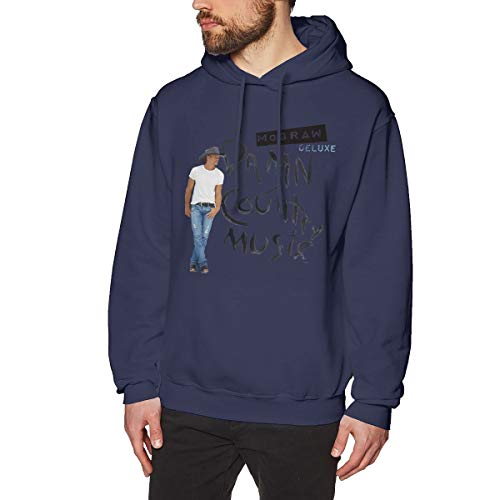de262ddba2291b AlbertV Men s Tim McGraw Damn Country Music Casual Hoodies Sweatshirt XL  Navy