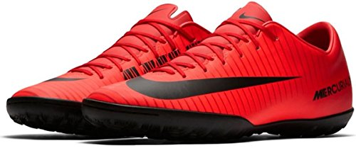 NIKE Men's MercurialX Victory VI TF Turf Soccer Cleat (Sz. 10) Red, Bright Crimson