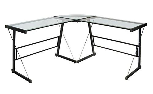 Tenzo 3415-000 Manager Designer Schreibtisch, Metall und glas, schwarz, 48 x 139 x 72 cm