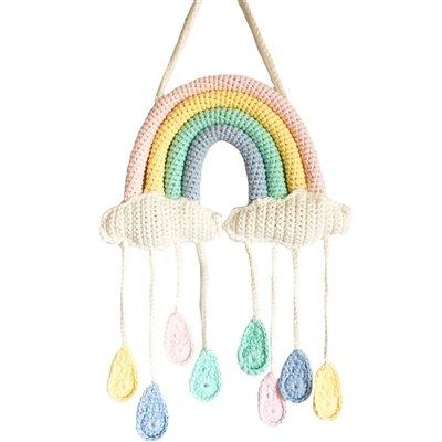 Handmade Nursery Wall Hanging - Rainbow Mobile by bebemoss