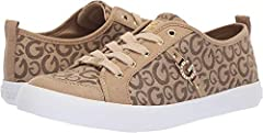 Your look isn't complete without the G by GUESS® Banx4 sneaker.  Textile and synthetic upper.  Lace-up closure.  Brand detail at the side.  Textile lining.  Lightly padded footbed.  Man-made outsole.  Imported. Measurements:       Weight: 12...