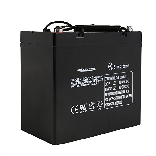 Powermall 12v 55ah sealed lead acid agm sla rechargeable for Marine trolling motor batteries