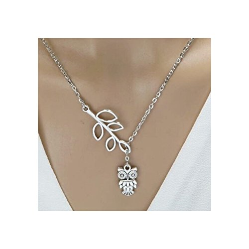 Owl Leaf Branch Necklace MMBD