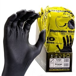 Black Mamba Disposable Nitrile Gloves - 10 Pk - Size Large ()