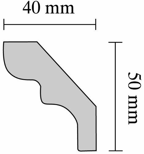 40 x 50 mm longueur 2 m Silvana Decosa Moulure D50